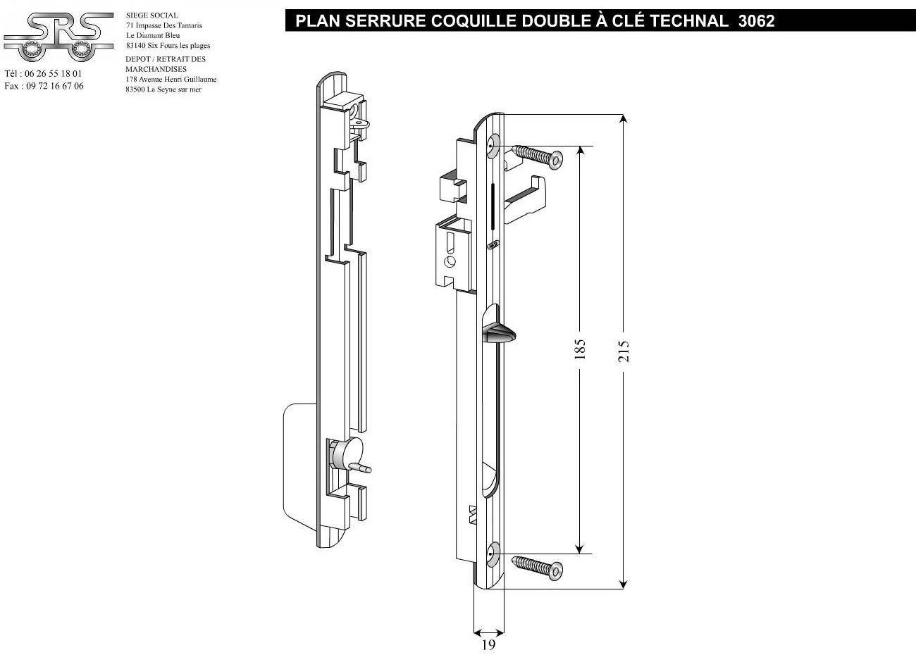 serrure baie vitr e coulissante technal r f 3062gris. Black Bedroom Furniture Sets. Home Design Ideas