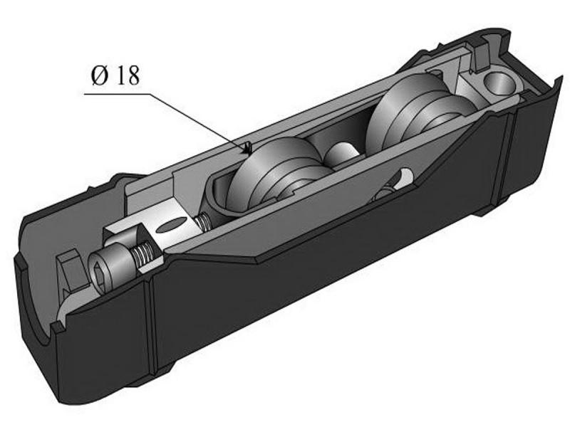 roulette technal baie vitr e coulissante r f 2954. Black Bedroom Furniture Sets. Home Design Ideas